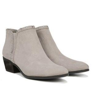 f678e0b6cbf9b Beige Phylis studded ankle booties